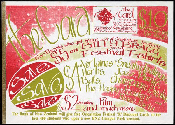 Orientation Festival '87: The Card.