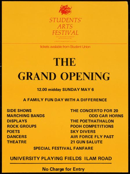 Grand Opening, 12.00 midday Sunday May 6.