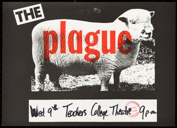 Plague, Wed 9th Teachers College Theatre 9p.m.