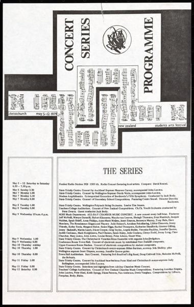 Concert Series Programme.